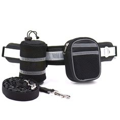 XSunshine Hands Free Dog Leash Adjustable Waist Belt for Running Walking Hiking Jogging With Storage Pouch and Waist bag For MP3 Keys Black -- You can find more details by visiting the image link. (This is an affiliate link) #DogTrainingTools