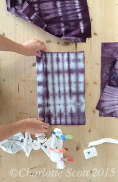 Shibori Folding Techniques Tutorial and dyeing formula with video