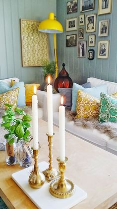 Tyrifryd Home Projects, Candles, Living Room, Candy, Living Rooms, Drawing Rooms, Candle Sticks, Family Room, House Projects