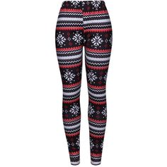 Christmas Snowflake Printed Striped Legging ($23) ❤ liked on Polyvore featuring pants, leggings, long trousers, legging pants, snowflake print leggings, slimming leggings and long leggings