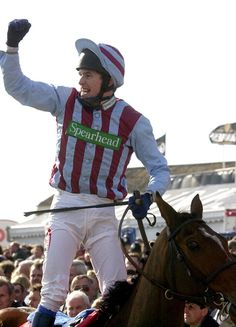 AP McCoy and Edredon Bleu celebrate victory in the 2000 Queen Mother Champion Chase Clare Balding, Sport Of Kings, Best Memories, Horse Racing, Victorious, Champion, Queen Mother, Sports, Horses