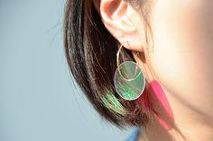 Jiro Kamata Earrings: BI Earrings, 2016 Dichroic mirror, 18ct gold