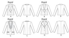 McCall's Pattern:M6655.  Printable Pattern Available.  Misses' Lined Jackets. Difficulty: ?. Size F5 (16-18-20-22-24)