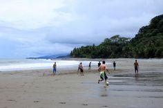 Locals playing soccer on Pinuelas Beach  Uvita, Marino Ballena National Park Costa Rica  #beach #love #costarica #fun