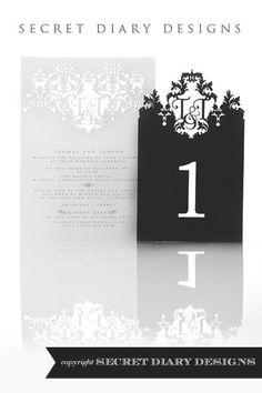 Lasercut invite - the secret diary