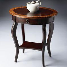 Cherry Nouveau Oval End Table