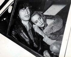 Jerry Hall & Mick Jagger. Fotaza.