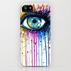 """Rainbow Eye"" iPhone & iPod Case by PeeGeeArts - $35.00"