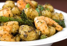 Gnocchi with Shrimp, Asparagus & Pesto --- Just 15 minutes to prepare! Absolutely delicious!!!