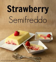 Strawberry Semifreddo - a simple frozen yogurt dessert