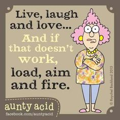 Ged Backland's random and witty thoughts on everyday life as told by Aunty Acid and her husband Walt in this Web comic Funny Cartoons, Funny Jokes, Funny Minion, It's Funny, Aunt Acid, Funny Sports Pictures, School Pictures, Monthly Quotes, Senior Humor