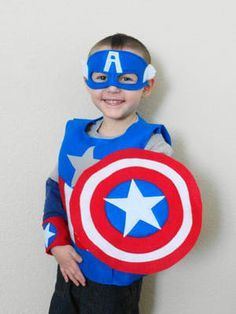 Child's Super Hero Costume Captain America by JulieMarieKids Dress Up Aprons, Dress Up Outfits, Dress Up Day, Dress Up Corner, Diy Costumes, Halloween Costumes, Captain Merica, Diy Superhero Costume, Special Needs Kids