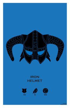 Iron Helmet.  Helmets of Skyrim Series.  Created @ Strong Jaw Designs