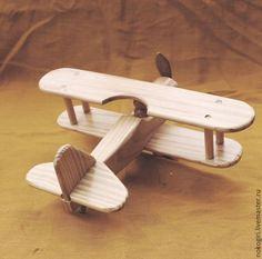 Купить Деревянная Игрушка Самолёт - желтый, самолет, самолетик, игрушка, подарок летчику, любителю самолетов
