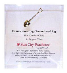 Groundbreaking ceremony giveaways