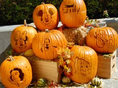 Disney Pumkin Carving templates and instructions