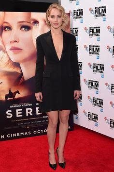 Best dressed - Jennifer Lawrence in a Dior tuxedo dress