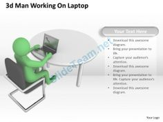 1013 3D Man Working on Laptop Ppt Graphics Icons Powerpoint #Powerpoint #Templates #Infographics
