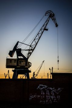 Mechanical goat - #industrial #crane at #port