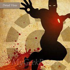 Conjunto de Superheroes minimalista Vintage por MyGeekPosters