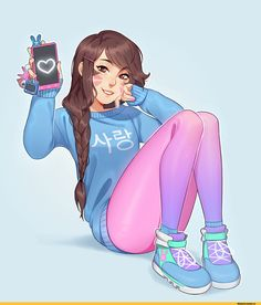 iml4,artist,D.Va,Overwatch,Blizzard,Blizzard Entertainment,фэндомы,Overwatch art