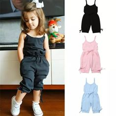 Girls Clothes Suits 2019 New Summer Style Children Floral Tops + Overalls Suit Clothes Sets For Kids Ruffles Sleeve Sets _ {categoryName} - AliExpress Mobile Version - Girls Summer Outfits, Dresses Kids Girl, Little Girl Outfits, Toddler Girl Outfits, Toddler Fashion, Kids Fashion, Fashion Fashion, Cute Toddler Girl Clothes, Babies Fashion