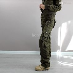 pants classic on sale at reasonable prices, buy New 2015 plus size Army Green Denim fatigue cargo pants women's overall,hip hop sport loose jeans baggy camo pants for women from mobile site on Aliexpress Now! Baggy Cargo Pants, Army Pants, Cargo Pants Women, Pants For Women, Cool Outfits, Summer Outfits, Loose Jeans, Green Pants, Pants Outfit
