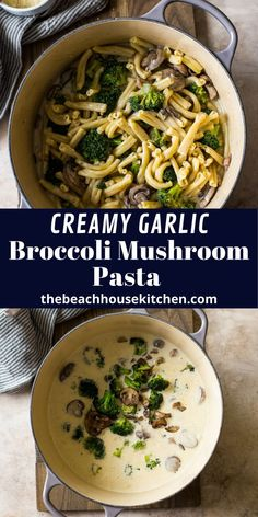 This Creamy Garlic Broccoli Mushroom Pasta is a cozy, wintery pasta dish that's perfect for a relaxing weekend in. Loaded with broccoli and mushrooms all in a creamy garlic sauce that's to die for!