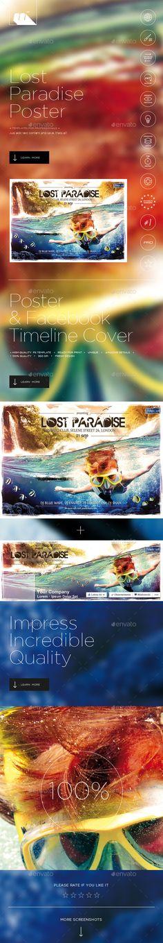 Lost Paradise Summer Flyer/Poster