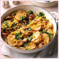 Sausage Skillet Dinner Recipes is Among the Favorite Dinner Recipes Of Several Persons Around the World. Besides Easy to Produce and Great Taste, This Sausage Skillet Dinner Recipes Also Health Indeed. Sausage Recipes For Dinner, Vegetarian Recipes Dinner, Easy Dinner Recipes, Easy Recipes, Healthy Recipes, Keto Recipes, Healthy Food, Shrimp Recipes, Free Recipes