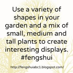 Good feng shui in your garden will attract positive feng shui to your home. http://fengshuiabc1.blogspot.com/