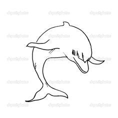 The drawn dolphin.Vector illustration — Stock Vector © Gurbi4 #