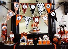 Mesa de postres de halloween.