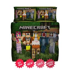 http://iragorastore.ecrater.com/p/24062876/set-gift-minecraft-stampyfleece-blanket  #minecraft #homedecor #bedding #bedroom #games