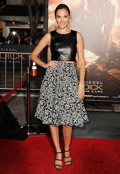 Actress Gal Gadot arrives at the Los Angeles Premiere 'Riddick' at the Mann Village Theater on August 28 2013 in Westwood California