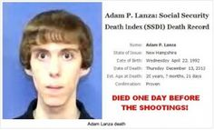 ❥ Wake Up Call: Adam Lanza Never Existed! Sandy Hook School Was Not an Operating School at Time of Shooting!~ WHAT?