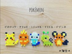 Pikachu and others hama perler beads Pyssla Pokemon, Hama Beads Pokemon, Diy Perler Beads, Perler Bead Art, Pearler Beads, Fuse Beads, Melty Bead Patterns, Pearler Bead Patterns, Perler Patterns