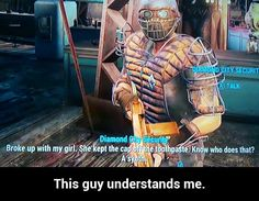 Complaints, but funny failures, where everyone can feel happy. You may have heard of the German word schadenfreude, . Fallout 4 Funny, Fallout 2, Fallout New Vegas, Fallout Tips, Fallout Comics, Video Game Memes, Video Games Funny, Funny Games, Bethesda Games