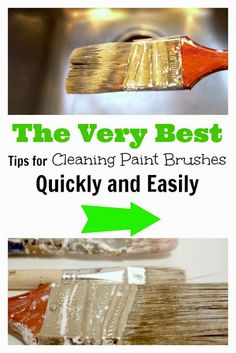 Your paint brushes will almost clean themselves! The easiest, laziest method possible for cleaning paint brushes.
