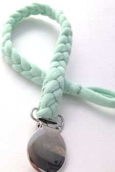 Mint Braided Pacifier Clip / Gender Neutral by TheLovelyCo on Etsy, $10.50