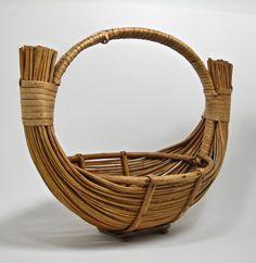 Vintage wicker basket for picnics, storage or a gift