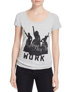 "Hamilton isn't the only star in the so-titled Broadway hit. The silhouettes of Angelica, Eliza and Peggy, the Schuyler Sisters in the must-see musical, stand above the word ""work"" with fists held high"