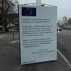 Polski bywa trudny nie tylko dla obcokrajowców... #Bydgoszcz #wybory2014 #wyborysamorzadowe2014 #plakatywyborcze