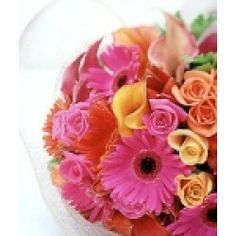 Sensational - bright and cheerful. One of our most popular hand tied bouquets www.nzflowers.co.nz
