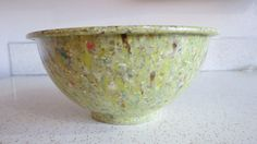 Vintage Mid-Century Texas Ware Lime Green Splatter by AdoredAnew