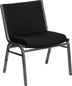 Flash XU-60555-BK-GG - HERCULES Big and Tall 1000 lb Extra Wide Black Fabric Stack Chair Sale Price: $62.50