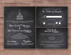 Printable Wedding Invitation Set - Invitation - RSVP Card - Details Card - DIY Wedding - The Nashville Collection Design