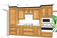"""To help our clients """"see"""" the finished kitchen, we can model the space in 3D when we plan the space."""