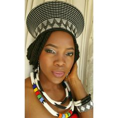 Zulu inspired traditional outfit