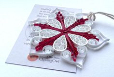 Christmas Snowflake ornament 2.Paper quilling by QuillingOwl, €12.50